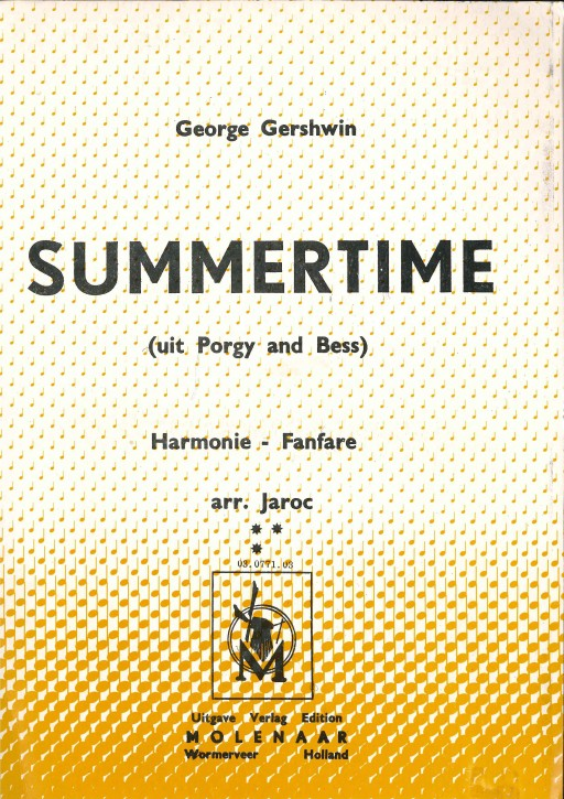Summertime (Aus Porgy and Bess) - LAGERABVERKAUF