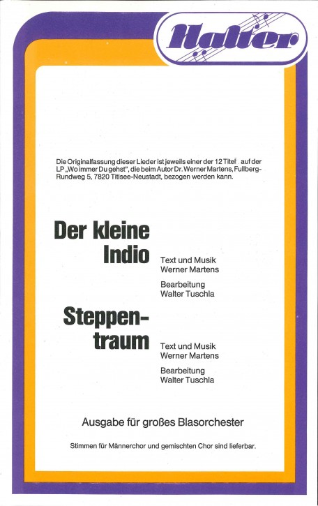 Der kleine Indio - KAVIER / DIREKTION