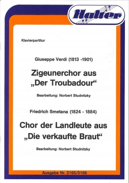 """Chor der Landleute aus """"Die verkaufte Braut - KLAVIERPARTITUR"""