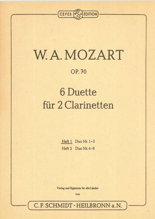 6 Duette für 2 Clarinetten - Heft 1