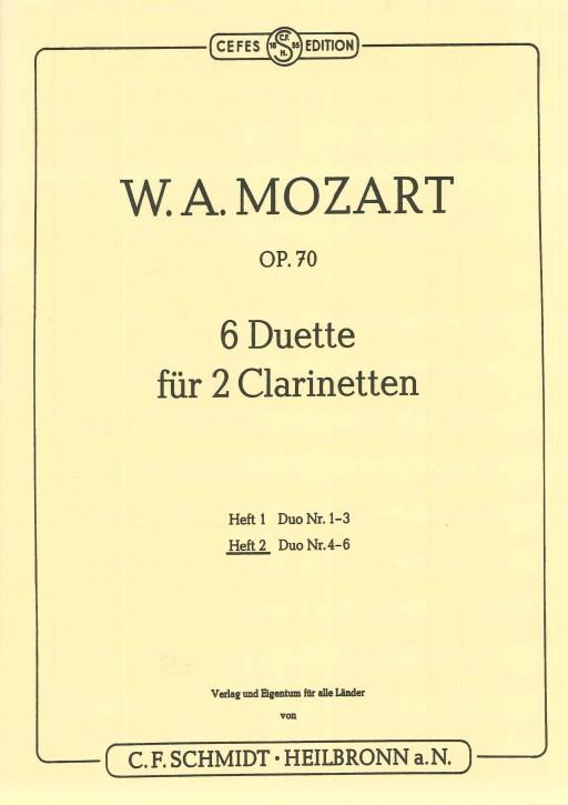 6 Duette für 2 Clarinetten - Heft 2