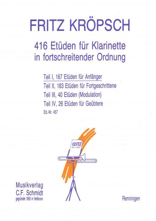 416 Etüden für Klarinette - Teil 1