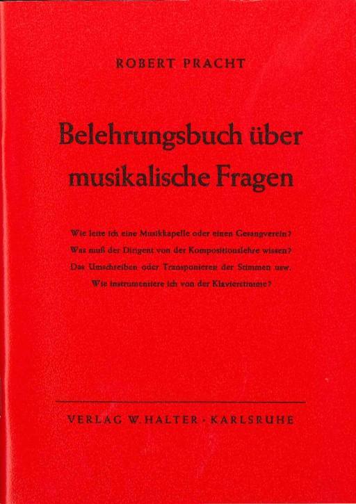 Belehrungsbuch über musikalische Fragen