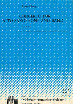 Concerto for Alto Saxophone and Band - LAGERABVERKAUF