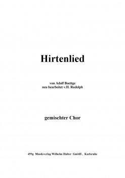 Hirtenlied - CHORSATZ für GEMISCHTEN CHOR