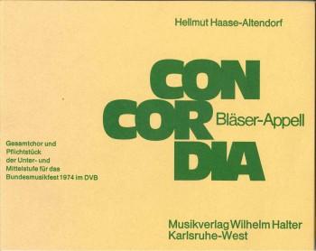 Concordia - CHORSATZ für GEMISCHTEN CHOR