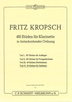 416 Etüden für Klarinette - Teil 4