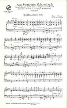Aus Schuberts Skizzenbuch