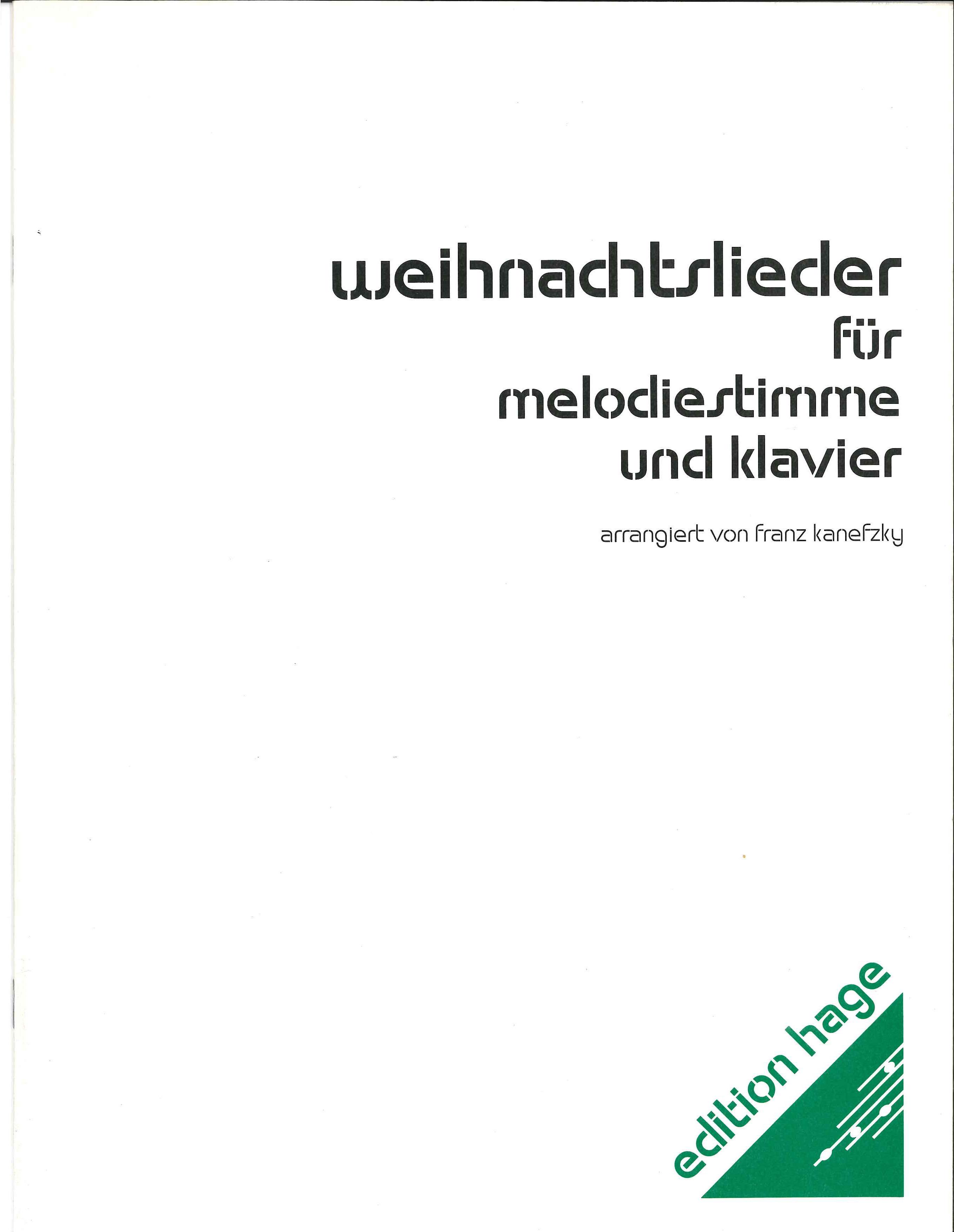Weihnachtslieder für ALTSAXOPHON und KLAVIER - LAGERABVERKAUF-DivEH ...