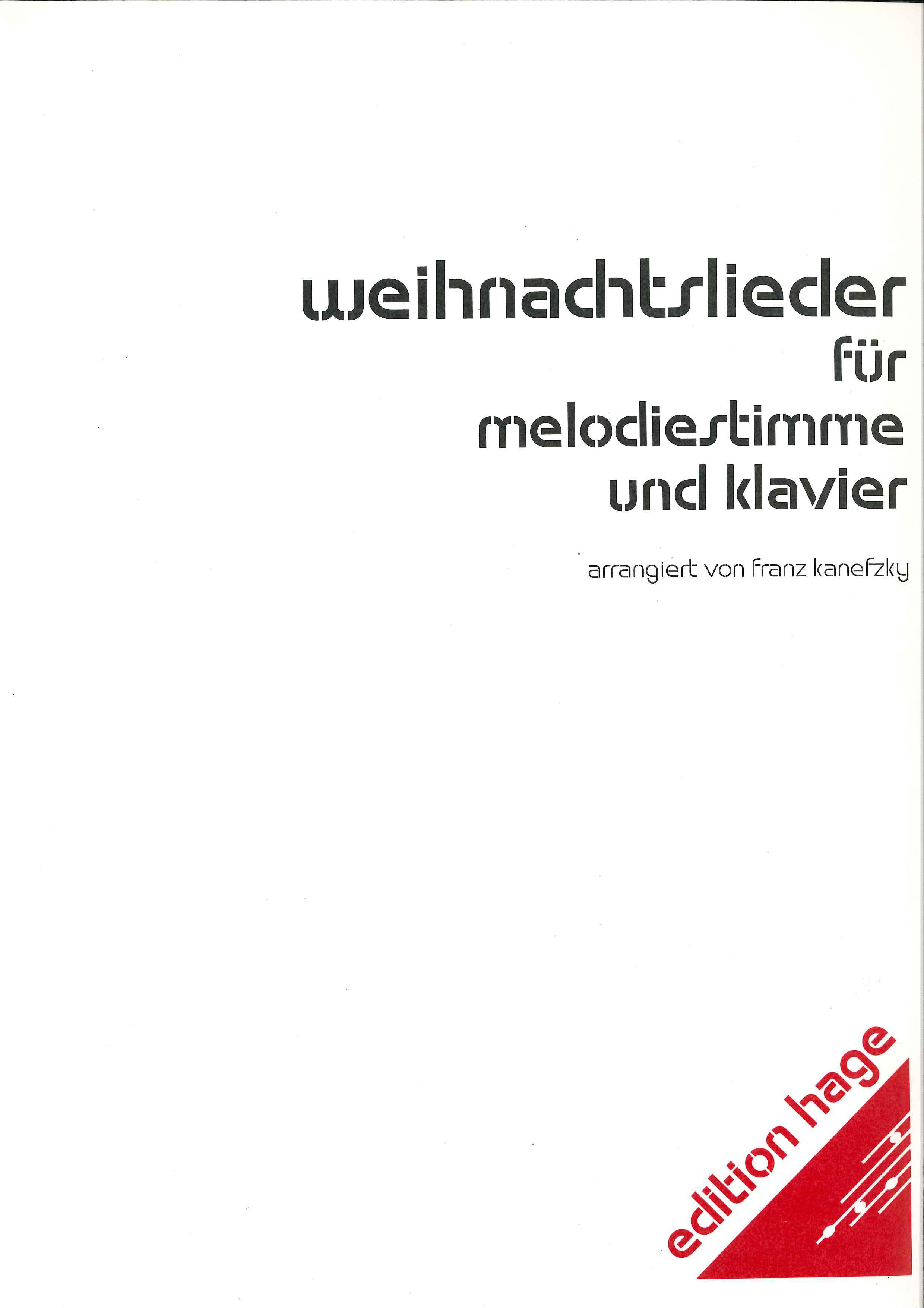 Weihnachtslieder für KLARINETTE und KLAVIER - LAGERABVERKAUF-DivEH 1005c