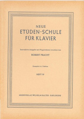 Neue Etüdenschule für Klavier - Heft 4