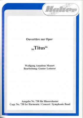 Ouvertüre zur Oper Titus