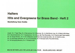 Halters Hits and Evergreens - Heft 2 1. Flöte in C