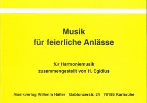 Musik für feierliche Anlässe Bariton in B