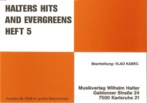 Halters Hits and Evergreens - Heft 5 Schlagzeug