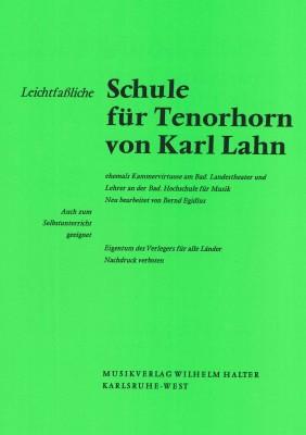 Leichtfaßliche Schule für Tenorhorn von Karl Lahn
