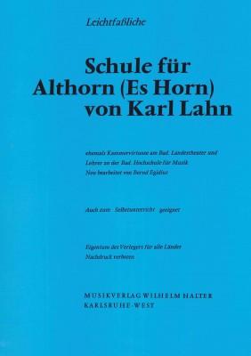 Leichtfaßliche Schule für Althorn (Es Horn) von Karl Lahn