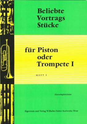 Beliebte Vortragsstücke für Trompete Heft 1 - Klavierstimme