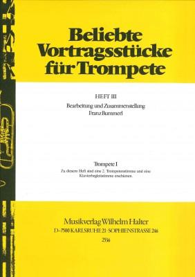 Beliebte Vortragsstücke für Trompete Heft 3 - 1. Stimme