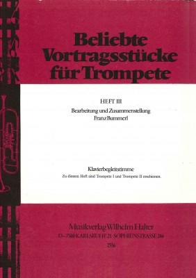 Beliebte Vortragsstücke für Trompete Heft 3 - Klavierstimme