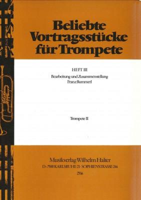Beliebte Vortragsstücke für Trompete Heft 3 - 2. Stimme