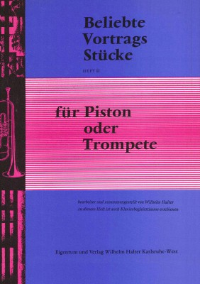 Beliebte Vortragsstücke für Trompete Heft 2 - Klavierstimme