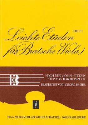 Leichte Etüden für Bratsche / Viola - HEFT 1