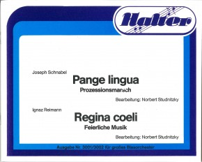 Regina coeli - Klavierstimme / Direktion