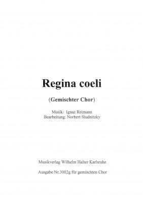 Regina coeli - Partitur für Gemischten Chor