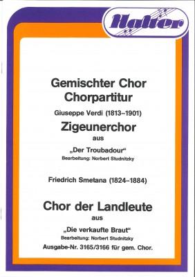 """Chor der Landleute aus """"Die verkaufte Braut""""- CHORSATZ für GEMISCHTEN CHOR"""