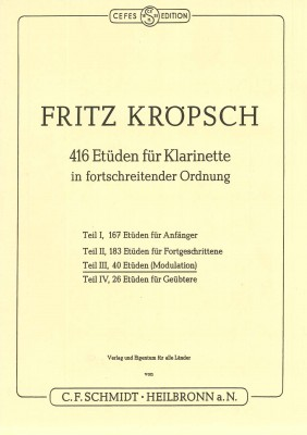 416 Etüden für Klarinette - Teil 3