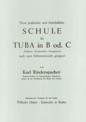 Schule für Tuba in B oder C (Helikon - Bombardon - Sousaphon)