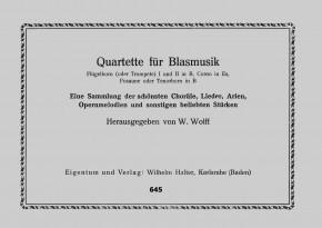 Quartette für Blasmusik 2. Stimme in B: Flügelhorn / Trompete