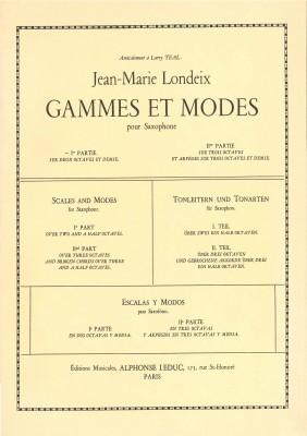 Gammes et Modes (pour Saxophone) - 1.Teil