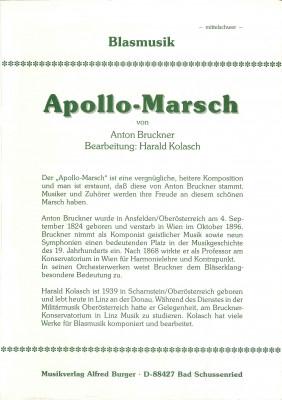 Apollo Marsch - LAGERABVERKAUF