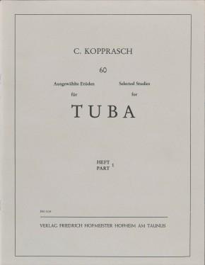 60 Ausgewählte Etüden für Tuba - Heft 1