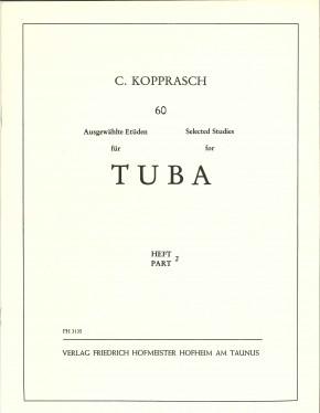60 Ausgewählte Etüden für Tuba - Heft 2