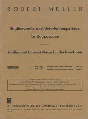 Technische Studien für Zugposaune - Heft 3