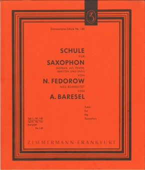 Schule für Saxophon - TEIL 1
